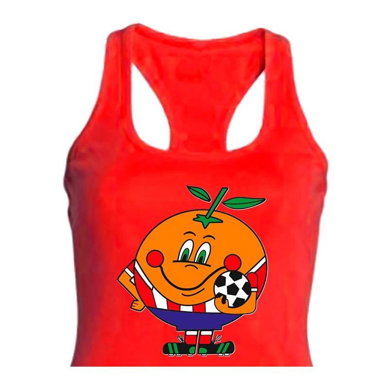 bba72a5707263 Camiseta Nadadora Naranjito Atleti Talla S Color Negro